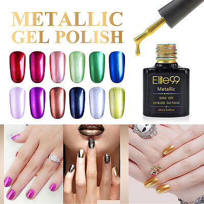 Elite99 Vernis Semi Permanent Métal Nail Gel Soak-Off Renforcement Gel Base Top