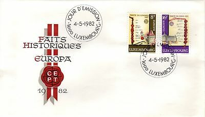 Luxembourg 1982 Europa SG 1086/7 FDC