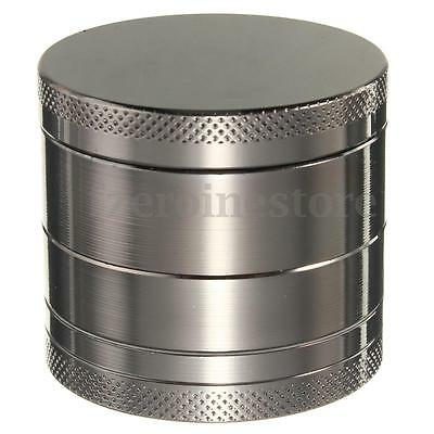 New 55mm 4 Layers Zinc Alloy Hand Crank Herb Mill Crusher Tobacco Smoke Grinder