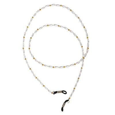 Women Reading Spectacle / Sunglasses Neck Cord Glasses Retainer Strap White
