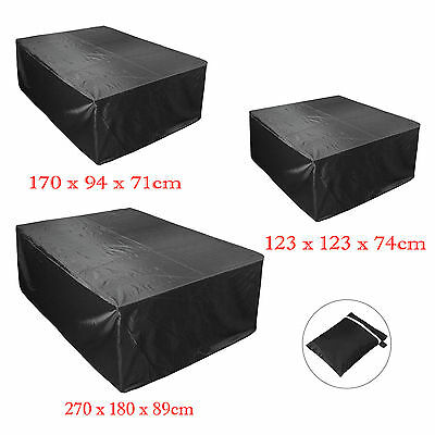 Heavy Duty Garden Ratten Outdoor Furniture Cover Patio Table Protection Black