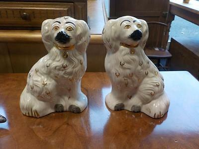 Antique / Vintage pair of Beswick Staffordshire Spaniels dogs 1378-5