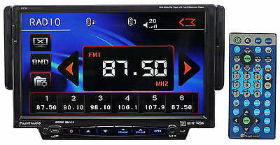 Planet Audio P9724 Single-Din Touchscreen Car Receiver Player w. DVD/USB/SD/AUX