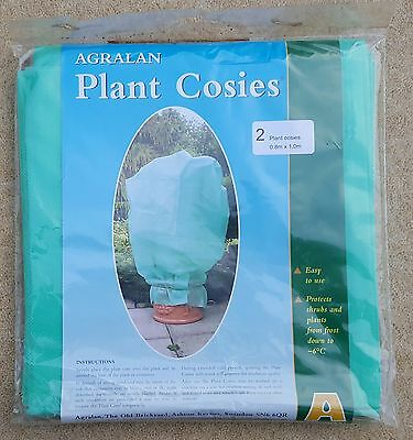 AGRALAN 2 x Plant 0.8 x 1m Dimensions Frost Protection Plant Cosies Pale Green