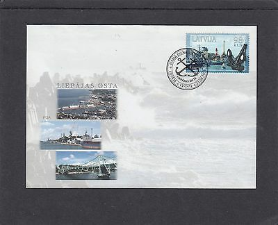 Latvia 2013 Harbour inc Lighthouse Ships  First Day Cover FDC