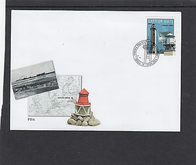 Latvia 2014 Lighthouses First Day Cover FDC