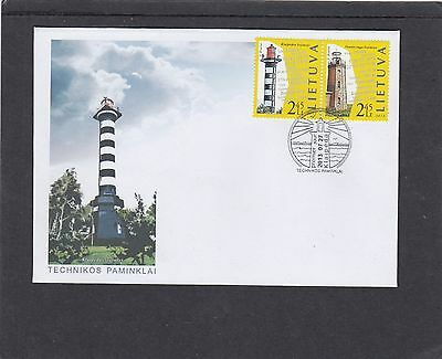 Lithuania 2013 Lighthouses First Day Cover FDC