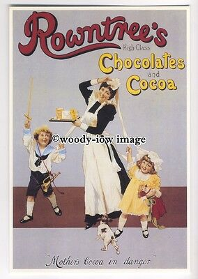 ad0389 - Rowntrees Chocolate & Cocoa - Maid & Children - Modern Advert Postcard