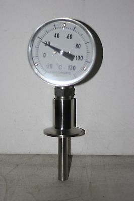 """-20 to120 Celsius Multi-position Thermometer 2"""" Tri-Clamp Ashcroft"""