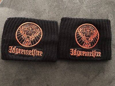 Jagermeister Black Wrist Sweat Bands (Set of 2)