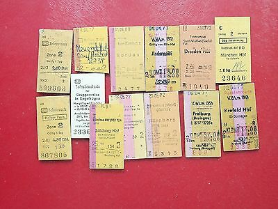 P3277 Germany. Various Types. 13 Train Tickets **, **