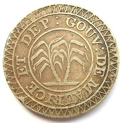Mauritius British Colony French Coinage 50 Sous ND (1822)