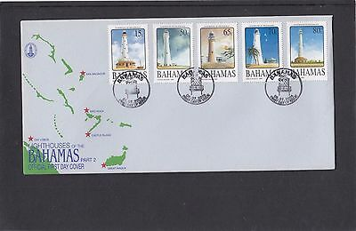 Bahamas 2005 Lighthouses First Day Cover FDC Bahamas fdi h/s