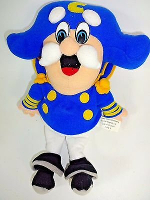 "Quaker Oats Stuffed Plush CAP'N CRUNCH Doll Cedar Rapids IA 1998 11"" Tall"