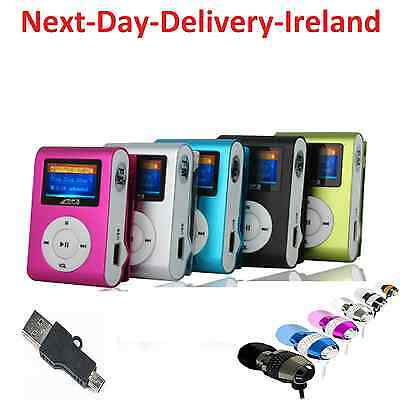 4GB Mini Clip Sport MP3 Player LCD Screen Ideal for Gym Running