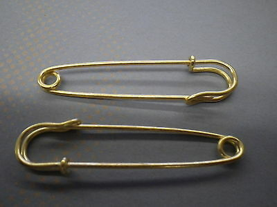 2.25 Inches Darice Coiless Safety Pins Gold
