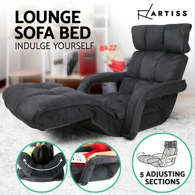Artiss Lounge Sofa Bed Floor Armchair Folding Chaise Chair Adjustable Recliner