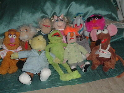"Disney Store The Muppets Set Bundle Of 10  Beanie Plush  Soft Toys 8"" - 11"""