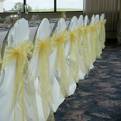 1/10/25/50/100/200 Organza Sashes Chair Bow Covers Wedding Party Decor Wholesale