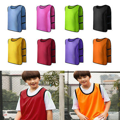 Kid Children Team Sports Football Soccer Training Pinnies Jerseys Train Bib Vest