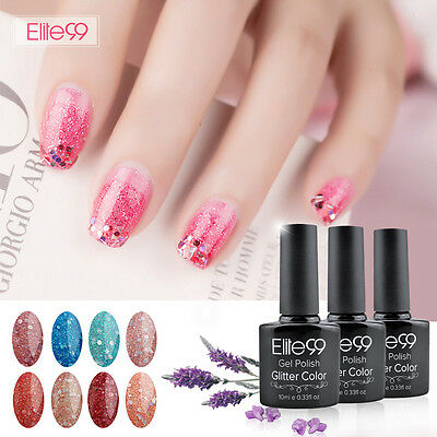 Elite99 Esmalte de Uña de Gel Polish con Brillo Soak Off UV LED Manicura 10ml