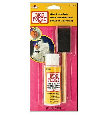 MOD PODGE GLÜHEN IN THE DARK FLUORESZIEREND SIEGEL KLEBER-FINISH 57ml FLASCHE &