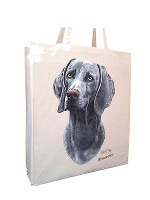 Weimaraner Cotton Shopping Bag with Gusset Xtra Space Perfect Gift