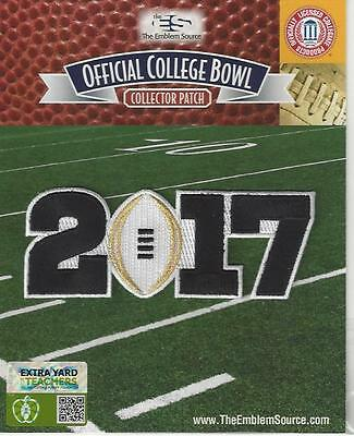 2017 CFP BCS National Championship Playoff Game Patch White Football Clemson
