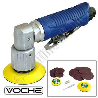 Voche Mini Dual Action Air Sander With 2 Sanding Pads And 10 Discs