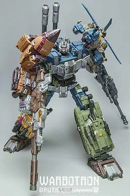 Warbotron Wb01 Bruticus Transformers Complete Full Set Nuovo New