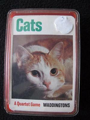 VINTAGE 1980's PACK of WADDINGTON TOP TRUMPS QUARTET GAME CARDS - CATS