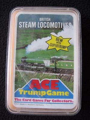 VINTAGE 1970's PACK of ACE TOP TRUMPS GAME CARDS - BRITISH STEAM LOCOMOTIVES