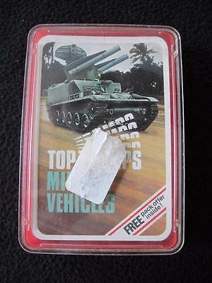 VINTAGE 1970's PACK of DUBREQ TOP TRUMPS GAME CARDS - MILITARY VECHICLES