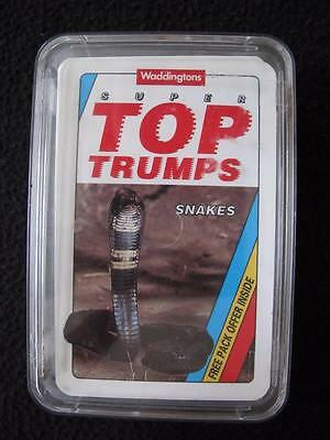 VINTAGE 1990's PACK of SUPER TOP TRUMPS GAME CARDS - SNAKES