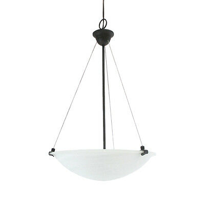 Oil Rubbed Bronze And Alabaster Glass Chandelier/Pendant