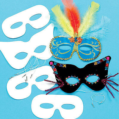 Design a Mask for Children to Paint Decorate and Wear (Pack of 12)