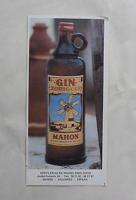 Early 1960s Tourist Map of MENORCA (Balearics, Spain). Xoriguer Gin Marketing