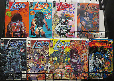 Lobo Comics Lot of 9Diff DC's Bastich in Blazing Chain Elseworld Bloodlines Fun!