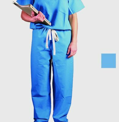 Medline Angelstat Scrub Pants Unisex Drawstring Ceil BLue Large