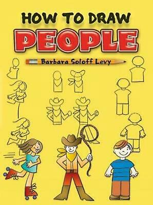 How to Draw People by Barbara Soloff Levy (English) Paperback Book Free Shipping
