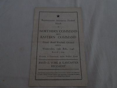 1945-46 REPRESENTATIVE MATCH NORTHERN COMMAND v EASTERN COMMAND @ ELLAND ROAD
