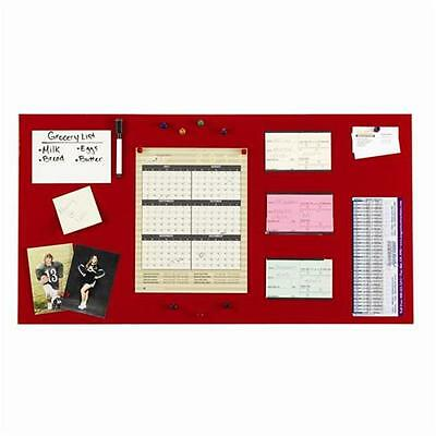 STEELMASTER Soho Collection 270163007 Magnetic Board 14 in. x 30 in. Red