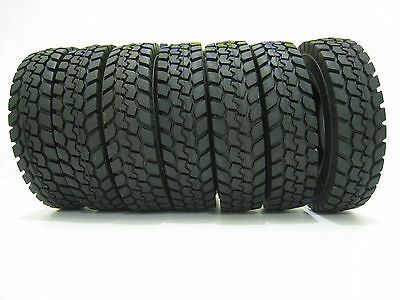 4 pcs Rubber Tires Tyres For Tamiya 1:14 Tractor Truck Trailer Climbing Car 1/14