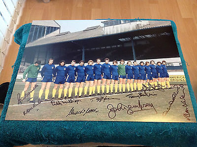 "Chelsea 1970 FA Cup Winners Picture 12x16"" & Genuine Hand signed by 10"