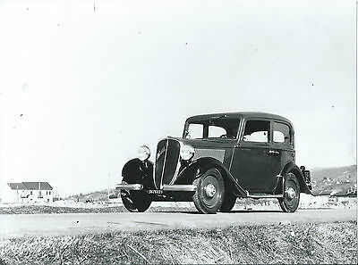 Fiat 508 Old Black White Photograph Mint Condition