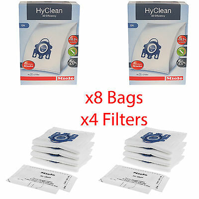 Miele Classic C1 PowerLine - SBAD1 GN HyClean Vacuum Cleaner Dust Bags x8