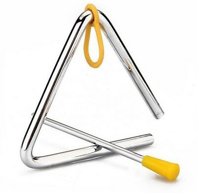 TRIANGLE PERCUSSION INSTRUMENT 100mm EACH SIDE WITH STRIKER AND HANGER BRAND NEW