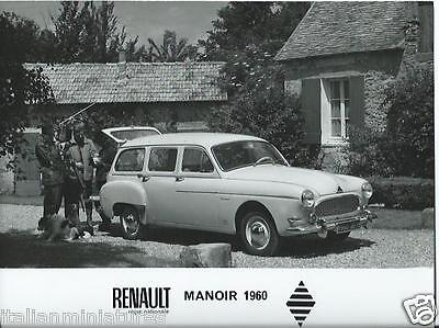 Renault Manoir 1960 Original Press Photograph With Dogs + Hunters With Shotguns