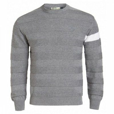 Lotus Cashmere Cotton Crew Jumper Neck Grey