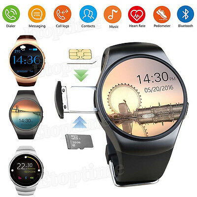 KW18 Bluetooth Smart Wrist Watch SIM GSM Phone Mate Heart Rate For IOS Android